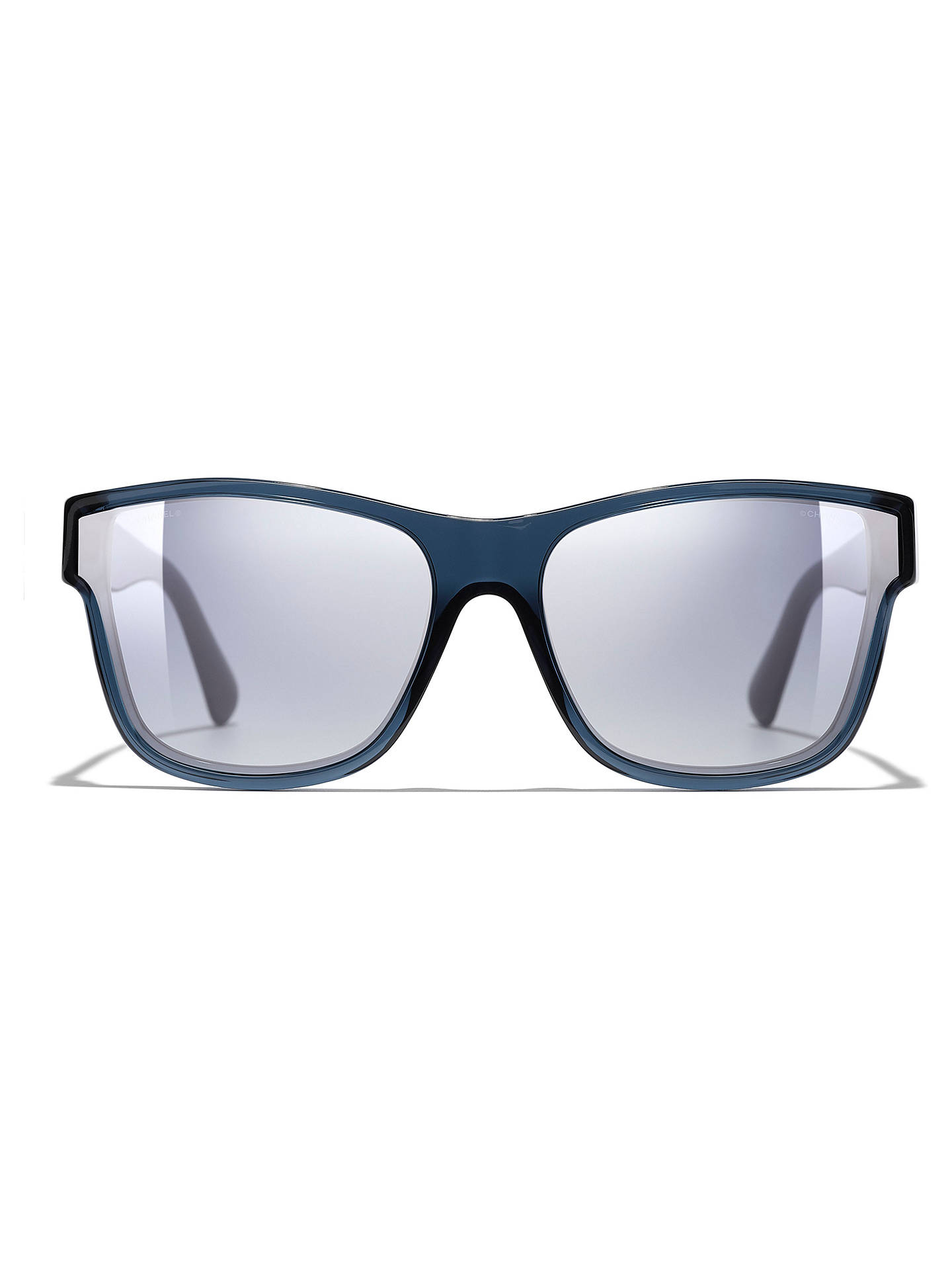 e861f844bb ... BuyCHANEL Butterfly Sunglasses CH5386 Blue Clear Blue Online at  johnlewis.com ...