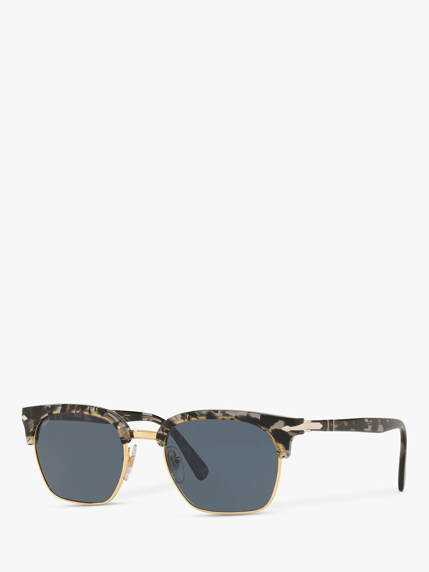 Buy Persol PO3199S Unisex Square Sunglasses, Tortoise Grey/Black Online at johnlewis.com