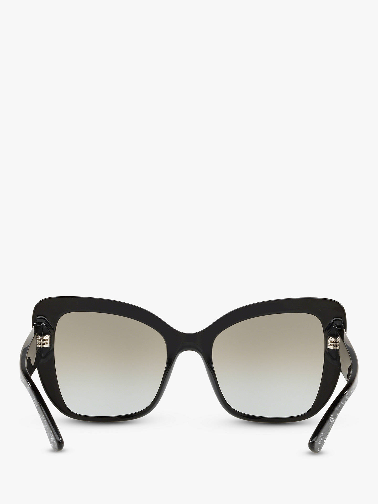 Buy Dolce & Gabbana DG4348 Women's Cat's Eye Sunglasses, Black Glitter/Mirror Silver Online at johnlewis.com