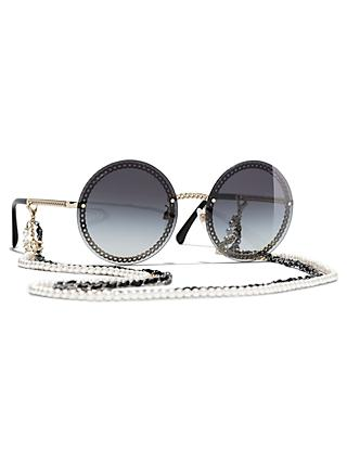 CHANEL Round Sunglasses CH4245, Pale Gold/Grey Gradient