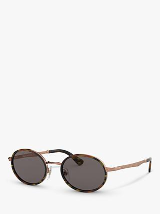 Persol PO2457S Women's Oval Sunglasses, Copper/Black
