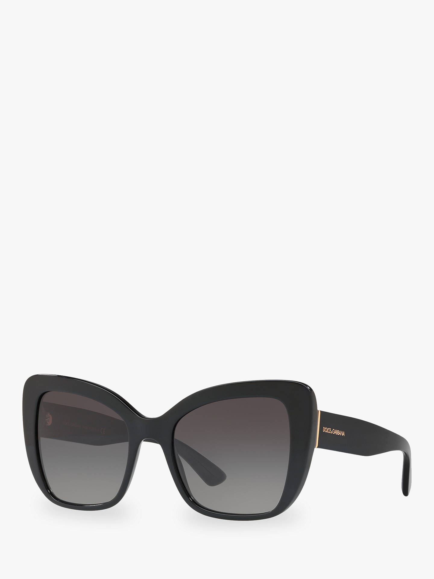 3d041b7a47 Buy Dolce & Gabbana DG4348 Women's Cat's Eye Sunglasses, Black/Grey  Gradient Online at ...