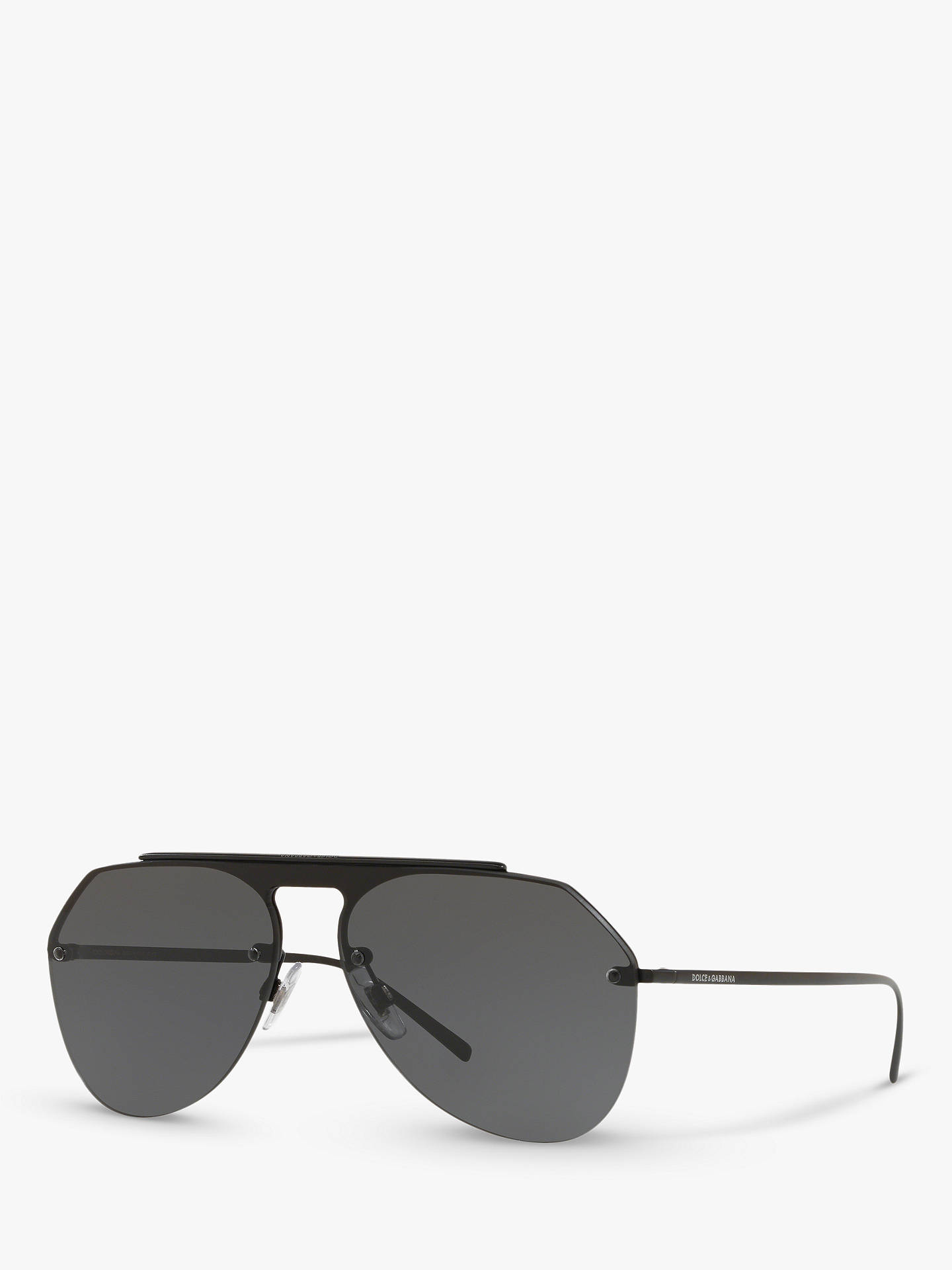 c4e272e3df3d Dolce   Gabbana DG2213 Men s Aviator Sunglasses at John Lewis   Partners
