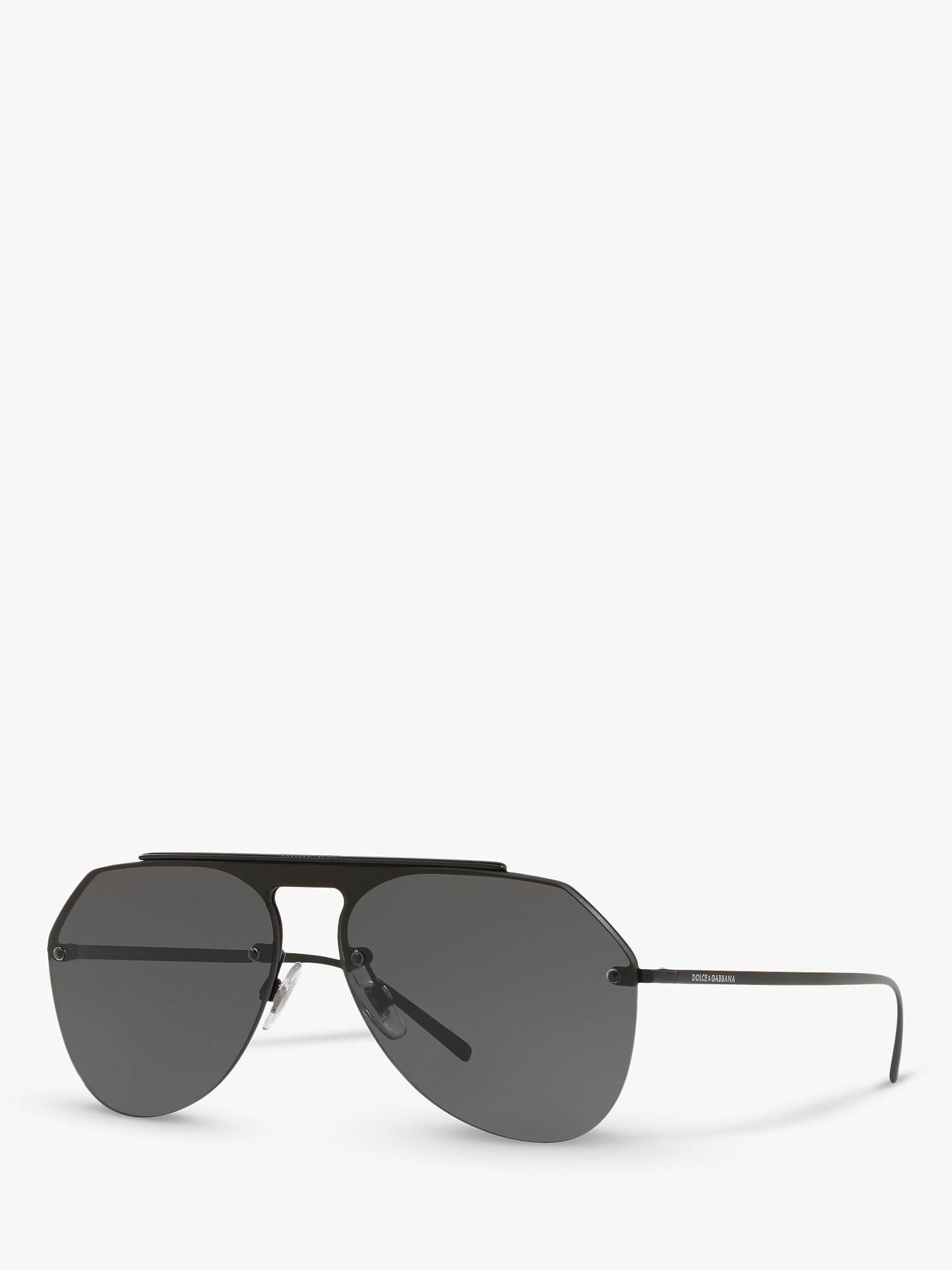 2bd68885f70 Dolce   Gabbana DG2213 Men s Aviator Sunglasses at John Lewis   Partners