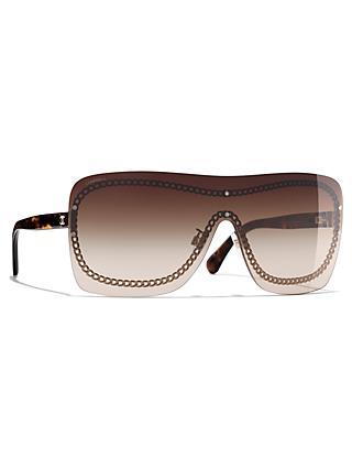 b1a84f0725492 CHANEL Shield Sunglasses CH4243 Gold Brown Gradient