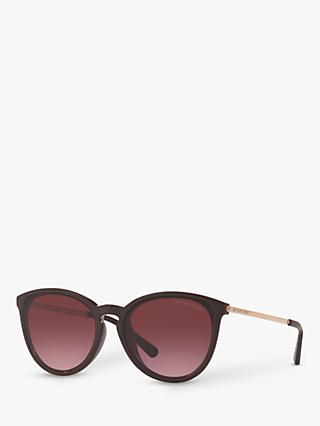 Michael Kors MK2080U Women's Chamonix Oval Sunglasses, Purple/Purple Gradient