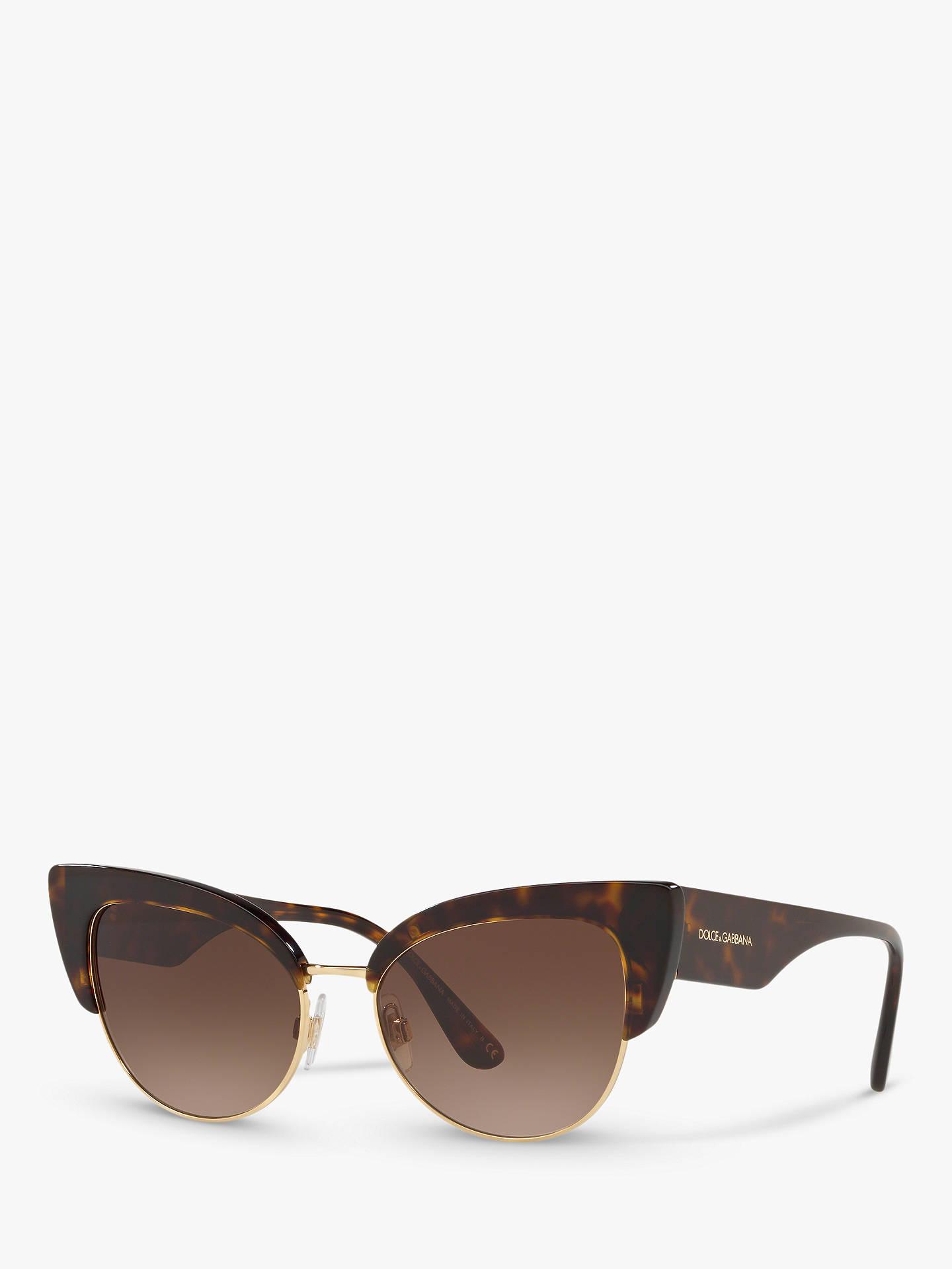 a13e424b7119 Dolce   Gabbana DG4346 Women s Cat s Eye Sunglasses at John Lewis ...