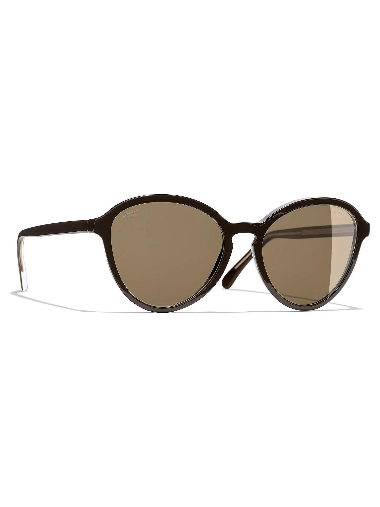 e41c4a7d7c2b Buy CHANEL Phantos Sunglasses CH5403 Brown Online at johnlewis.com ...