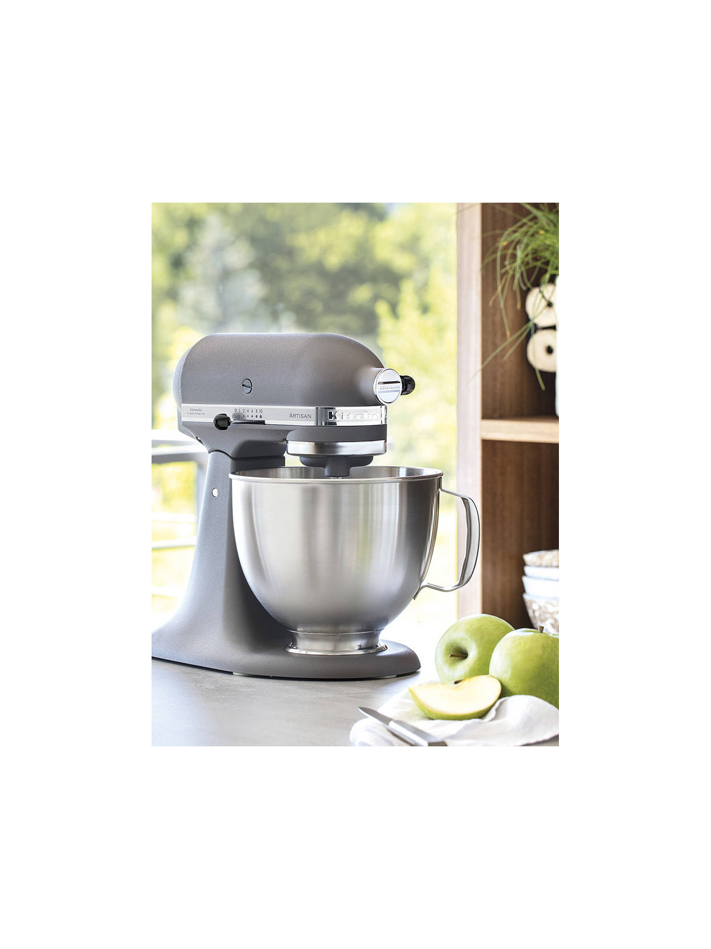 Buy KitchenAid 5KSM156BFP Artisan 4.8L Stand Mixer, Imperial Grey Online at johnlewis.com
