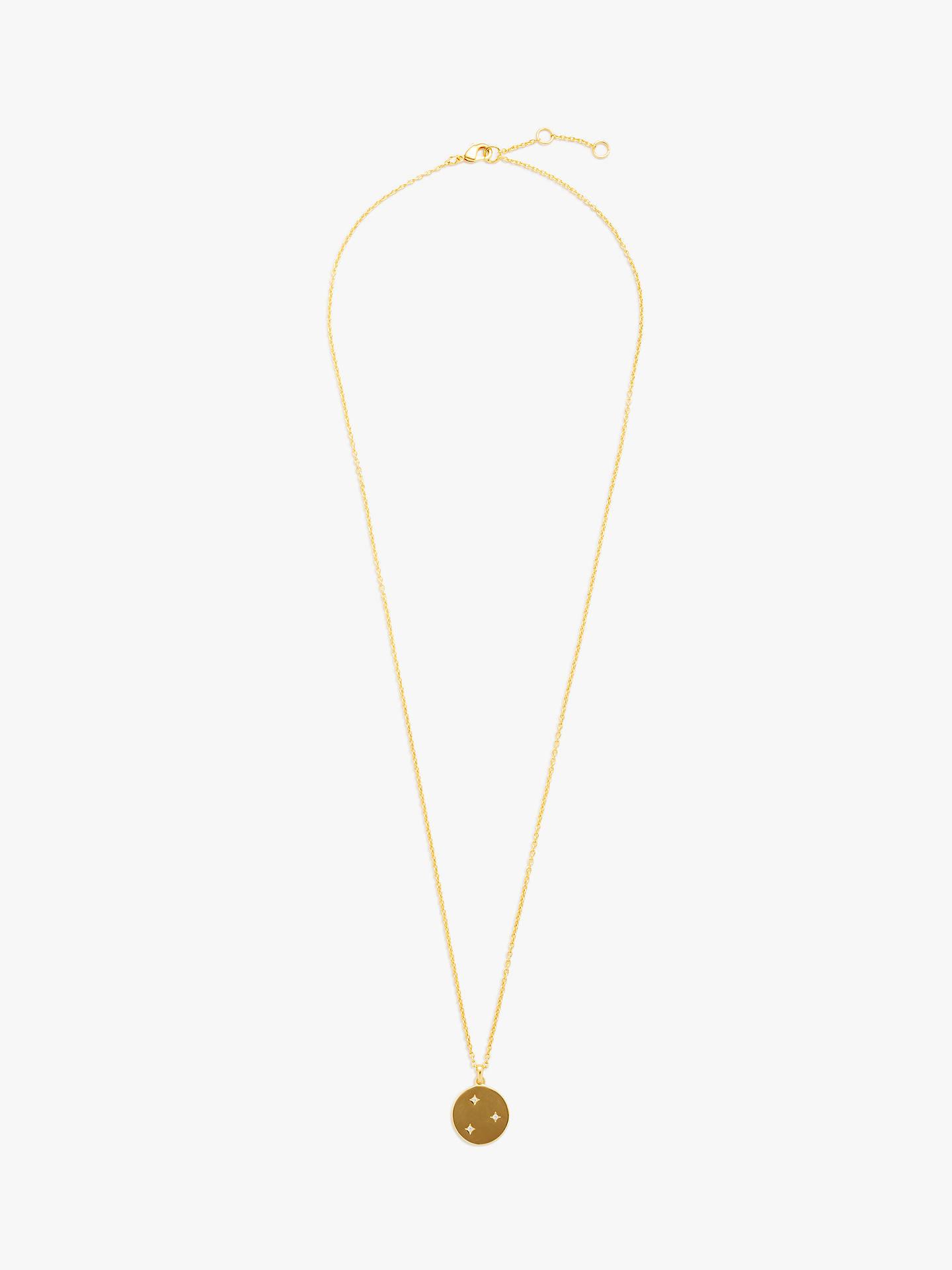 fcf751e54e79a John Lewis & Partners Star Disc Pendant Necklace, Gold
