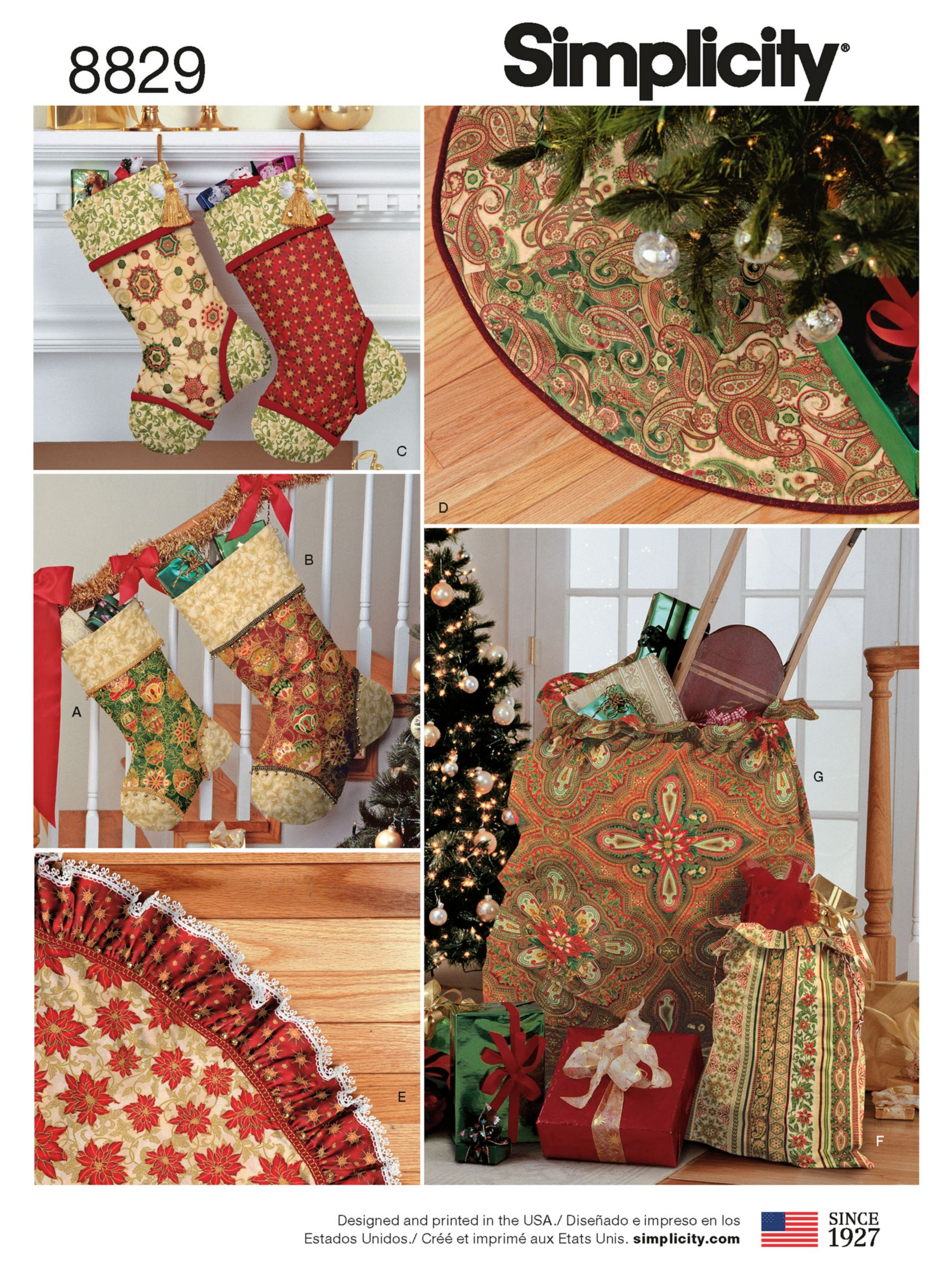 Simplicity Simplicity Christmas Decor Sewing Pattern, 8829