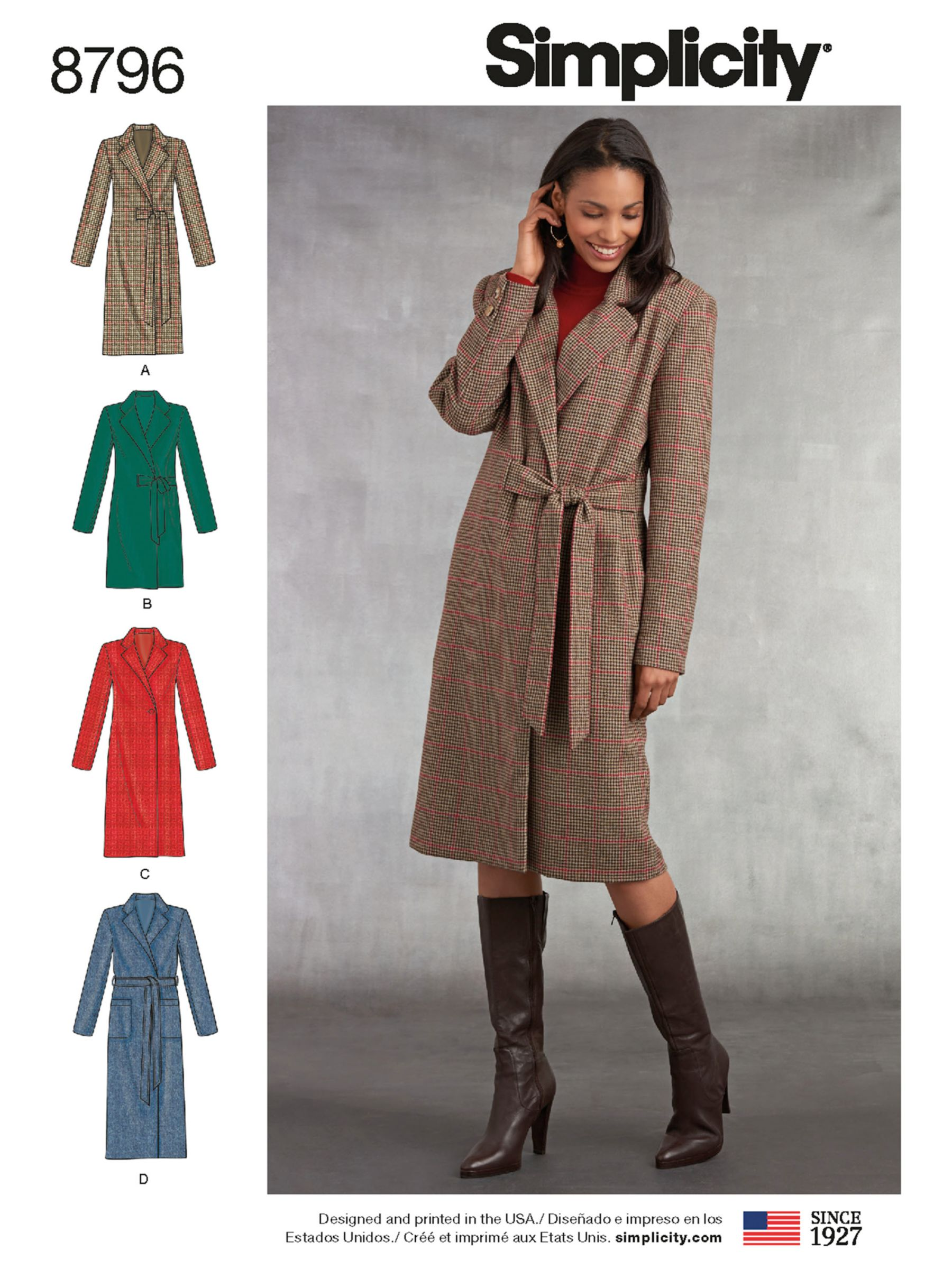 Simplicity Simplicity Women's Coat Sewing Pattern, 8796