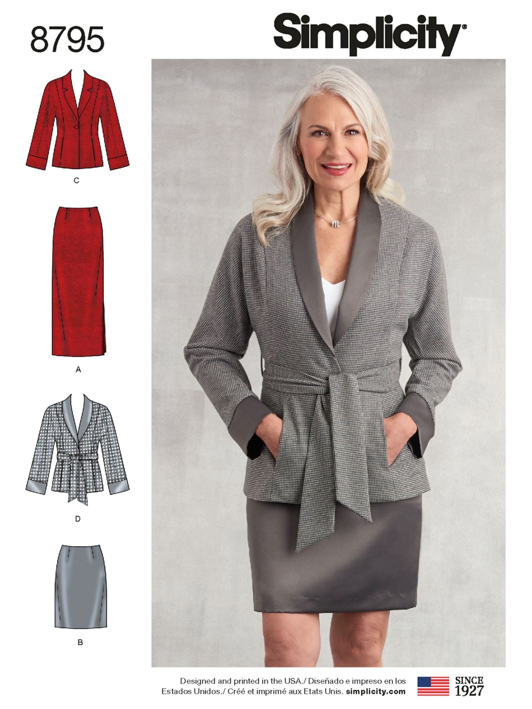 Simplicity Simplicity Women's Sportswear Jacket and Skirt Sewing Pattern, 8795