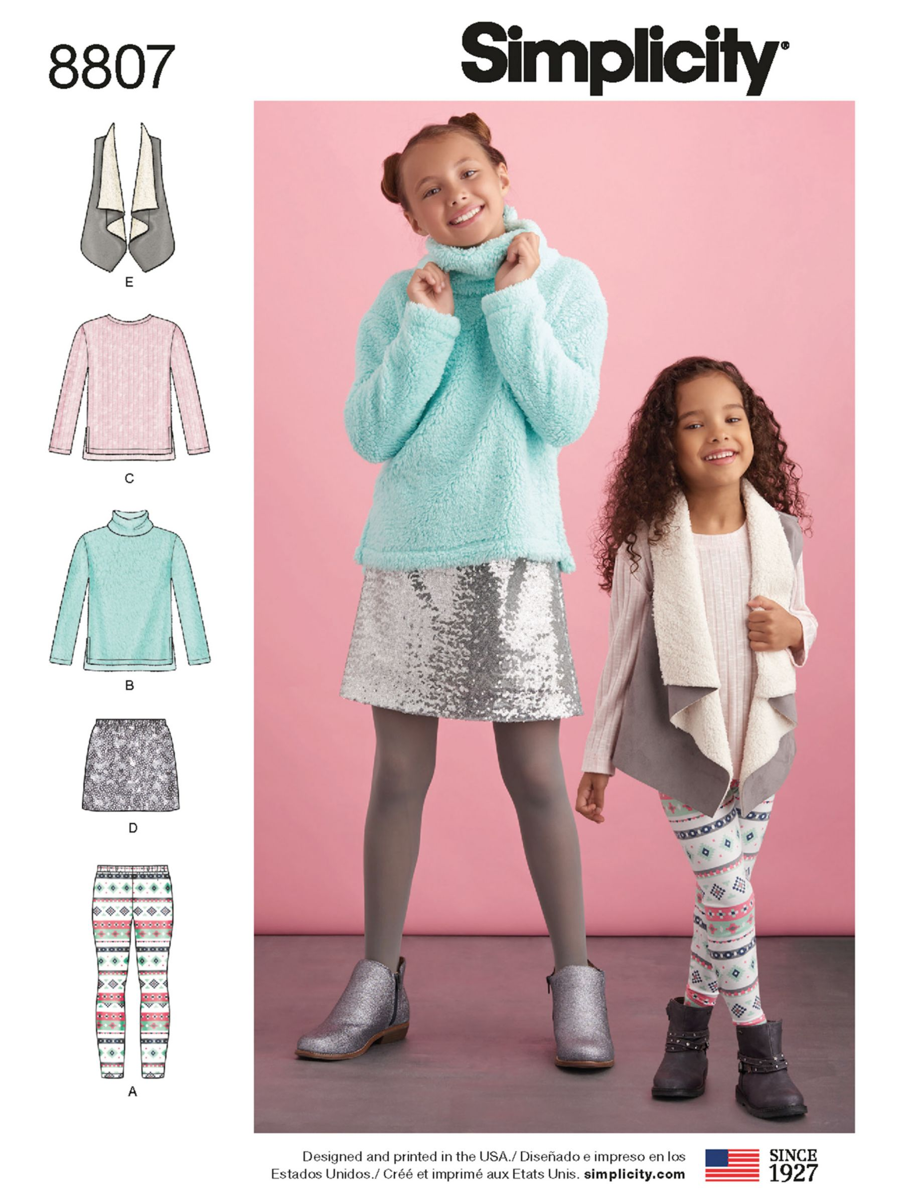 Simplicity Simplicity Children's Cardigan and Leggings Sewing Pattern, 8807