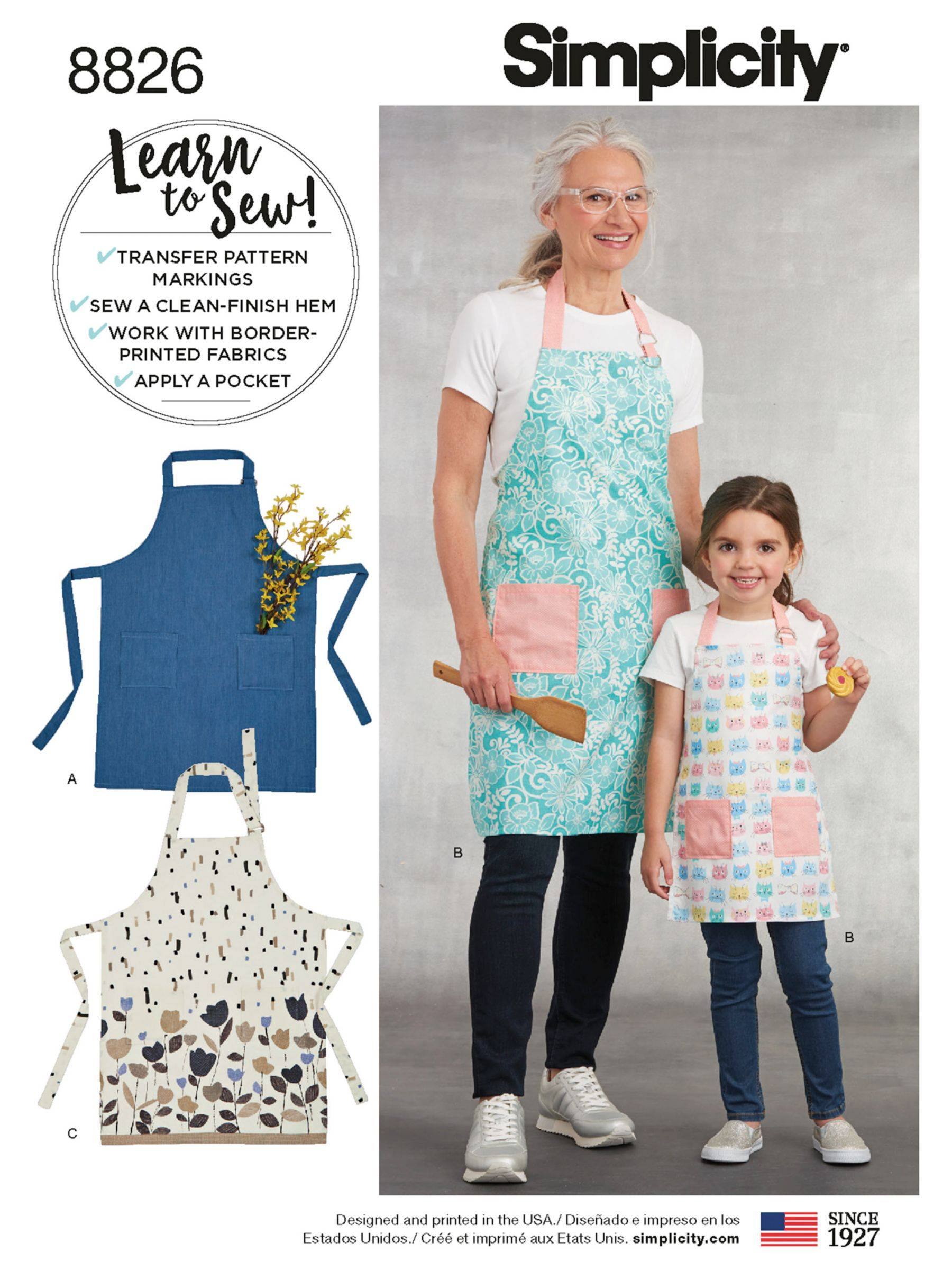 Simplicity Simplicity Women's and Children's Apron Sewing Pattern, 8826