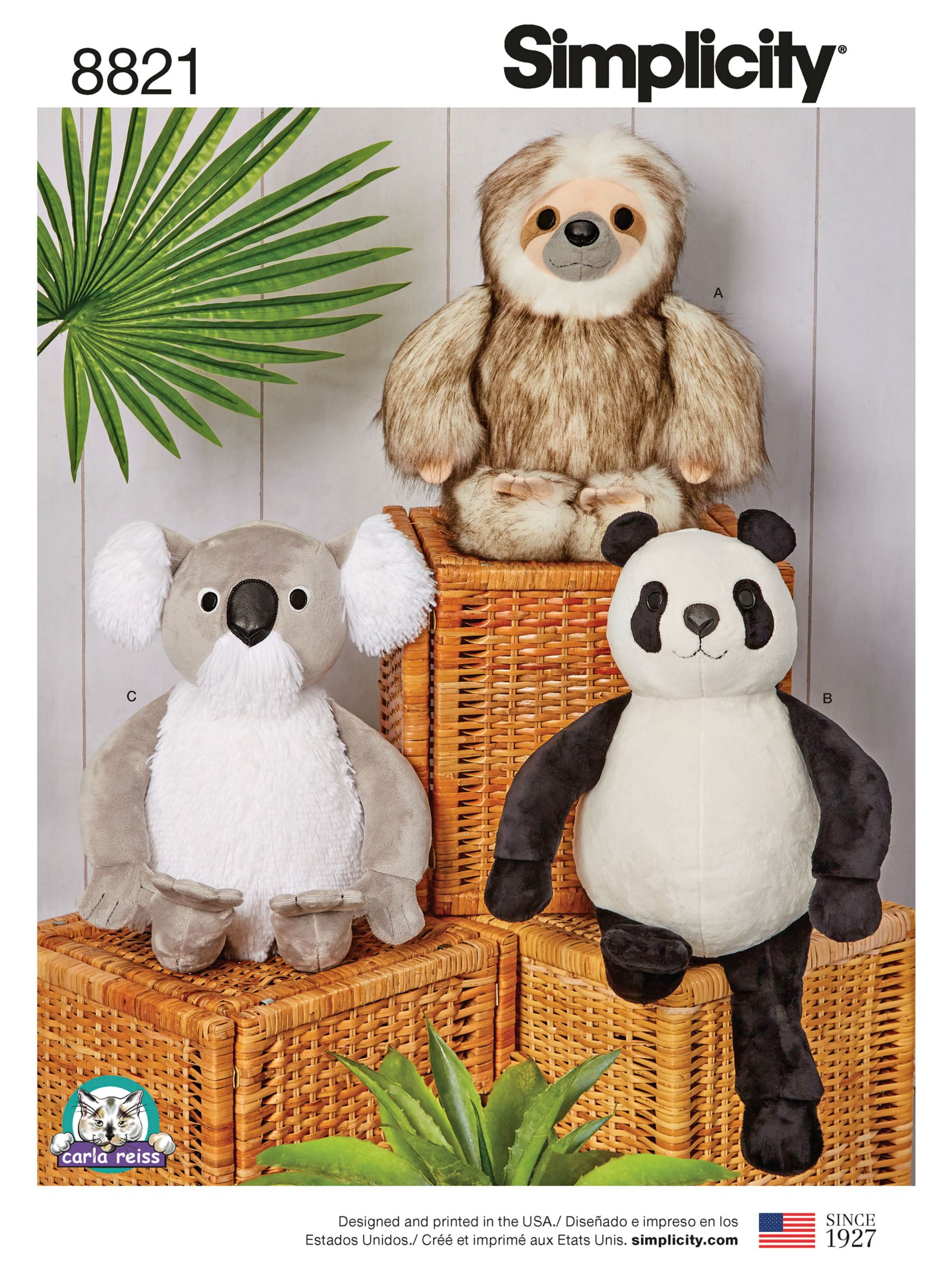 Simplicity Simplicity Stuffed Animals Sewing Pattern, 8821