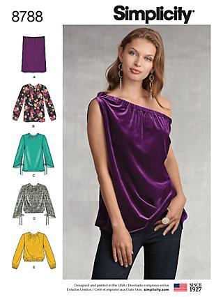 0a076aa731660e Simplicity Women s Tops Sewing Pattern