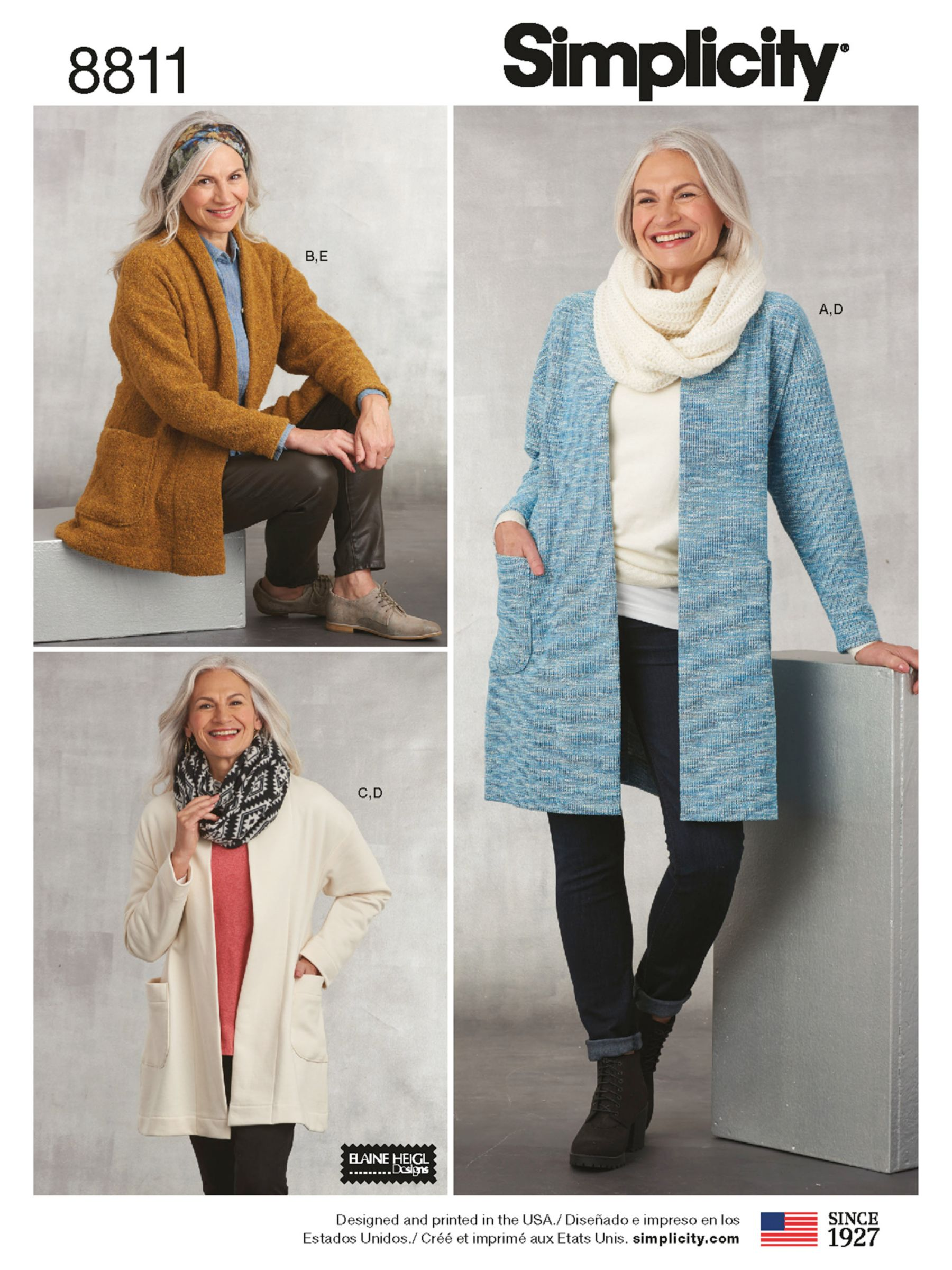 Simplicity Simplicity Women's Cardigans, Scarves and Headbands Sewing Pattern, 8811, A