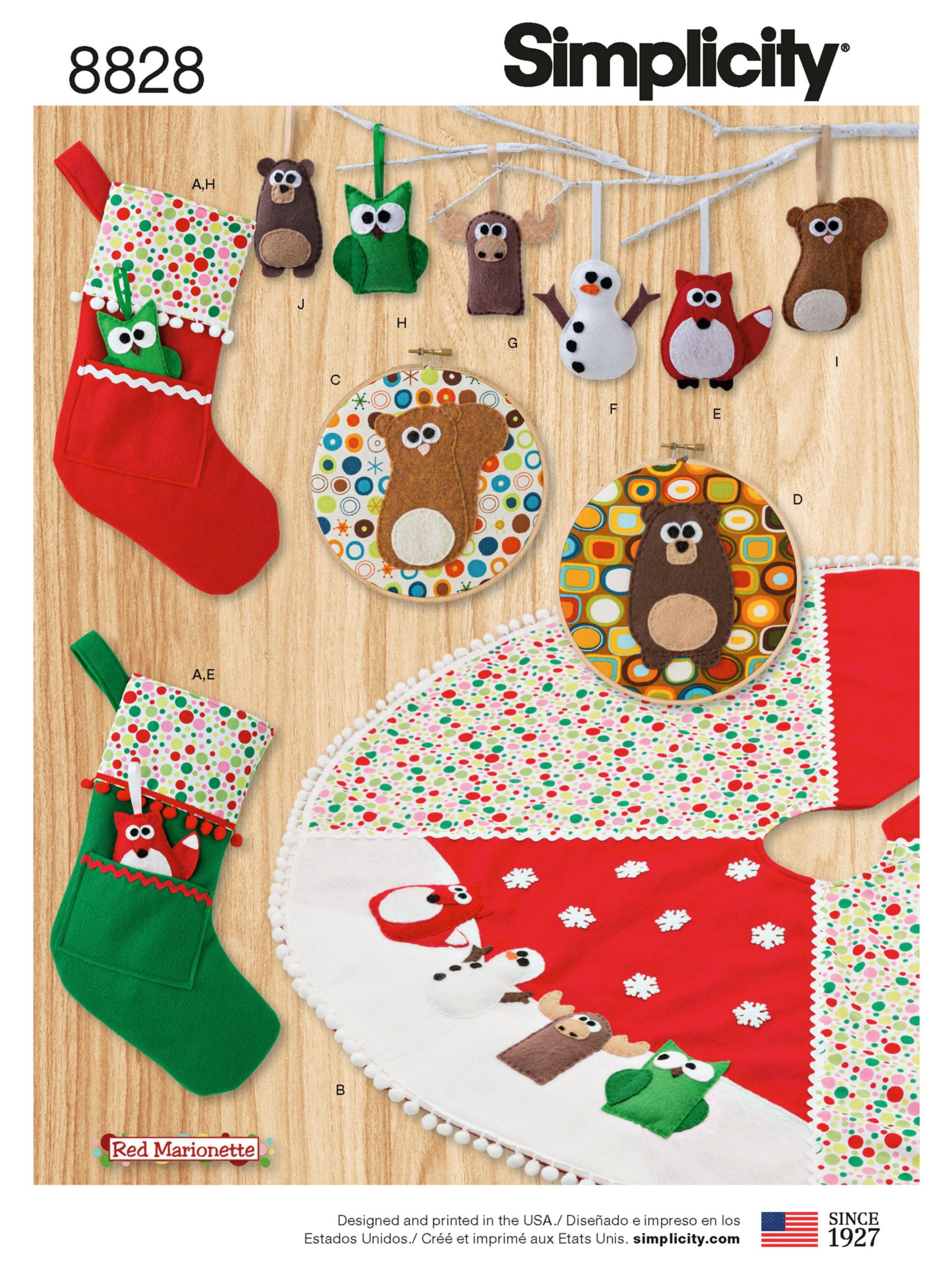 Simplicity Simplicity Christmas Decorations and Stockings Sewing Pattern, 8828