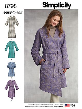 Simplicity Women's Coat Sewing Pattern, 8798