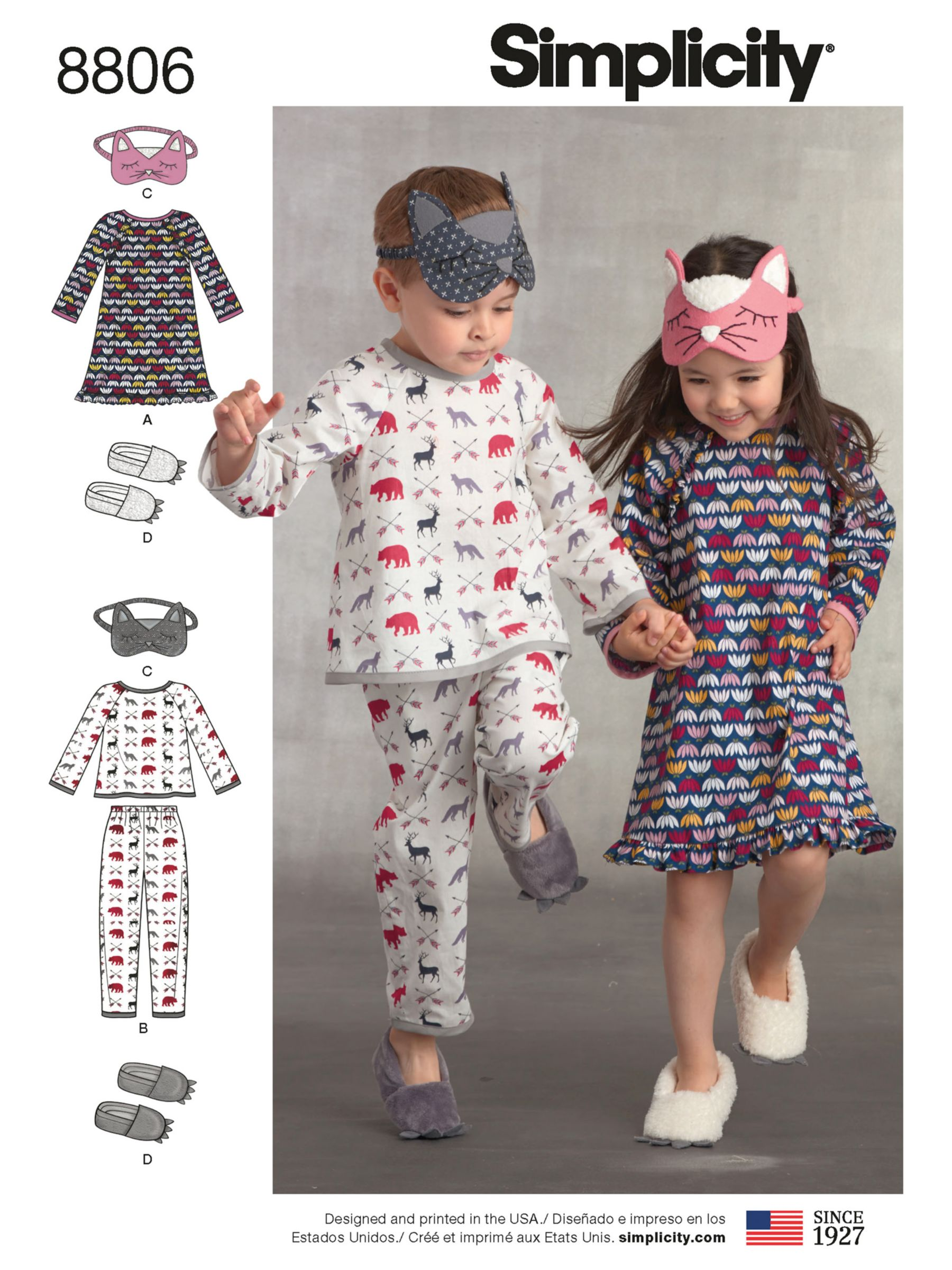 Simplicity Simplicity Children's Pyjama Set Sewing Pattern, 8806