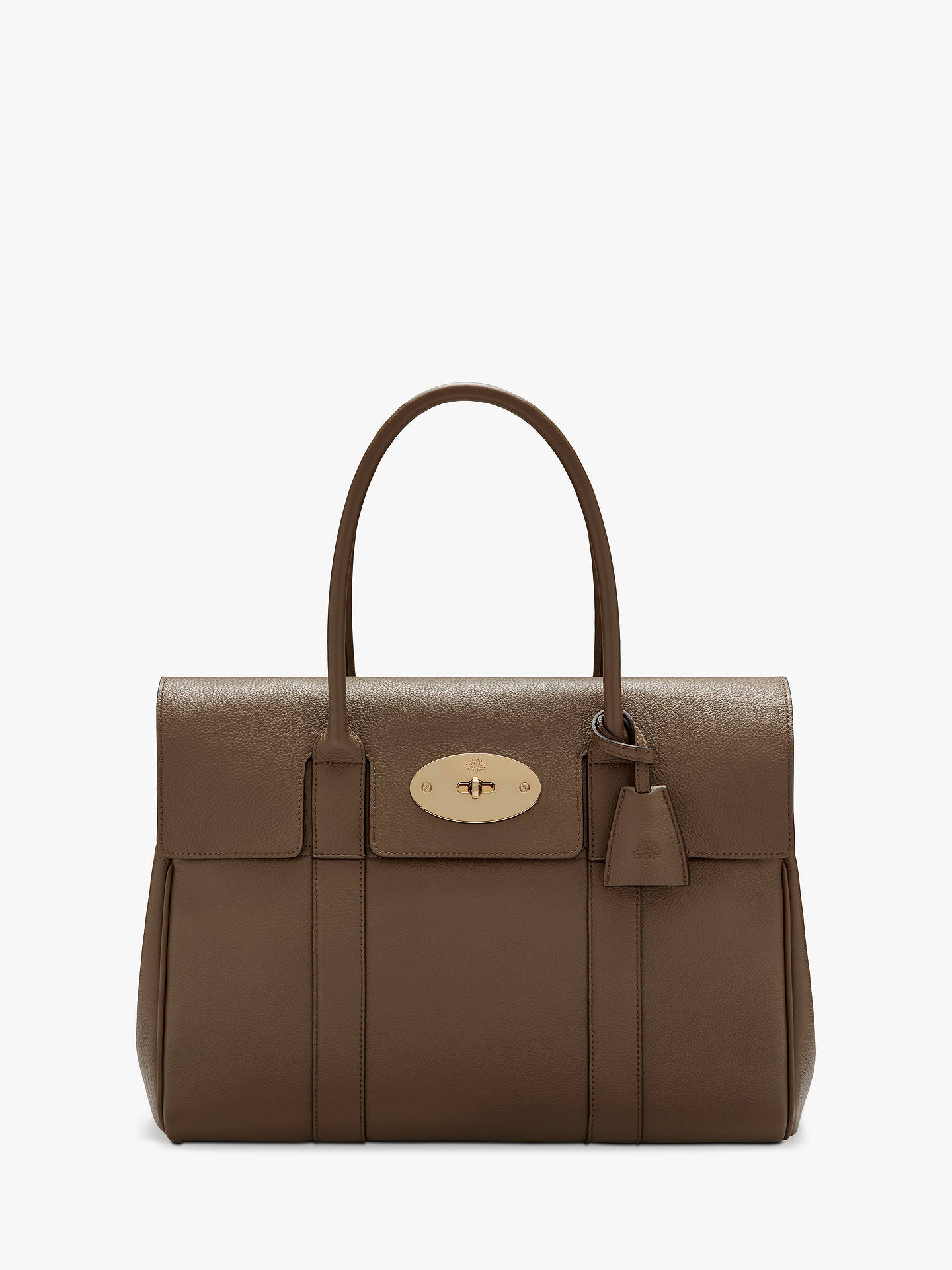 5344d8f643 Buy Mulberry Bayswater Heritage Small Classic Grain Leather Handbag, Clay  Online at johnlewis.com ...