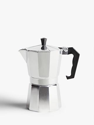 John Lewis & Partners 3 Cup Espresso Maker, Silver