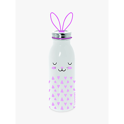 Aladdin Rabbit Stainless Steel Vacuum Insulated Water Bottle, 450ml, Pink/White