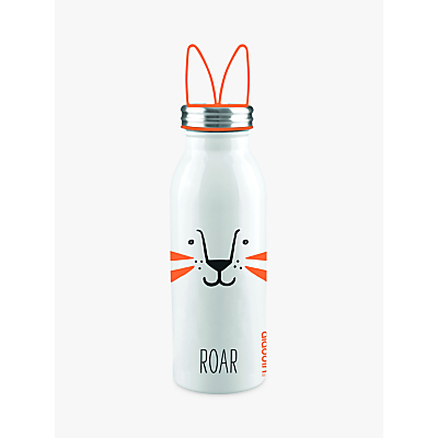 Aladdin Roar Stainless Steel Vacuum Insulated Water Bottle, 450ml, Orange/White