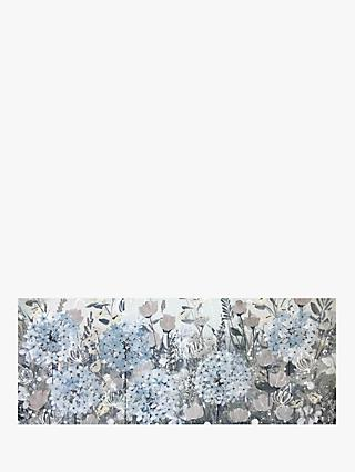 Jane Morgan - Pastel Blossom Canvas, 41 x 101cm, Blue/Multi
