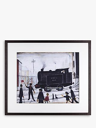 LS Lowry - Level Crossing Framed Print & Mount, 34.2 x 42.6cm
