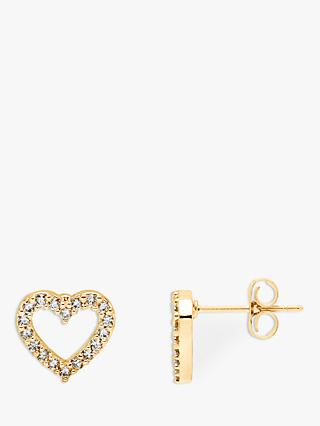 Estella Bartlett Heart Stud Earrings, Gold