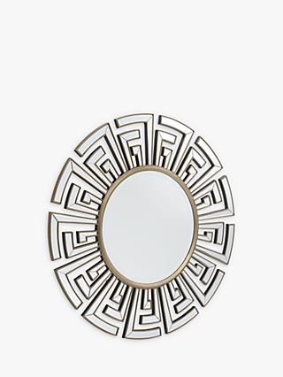 Libra Claridge Deco Round Mirror, Antique Bronze, Dia.120cm