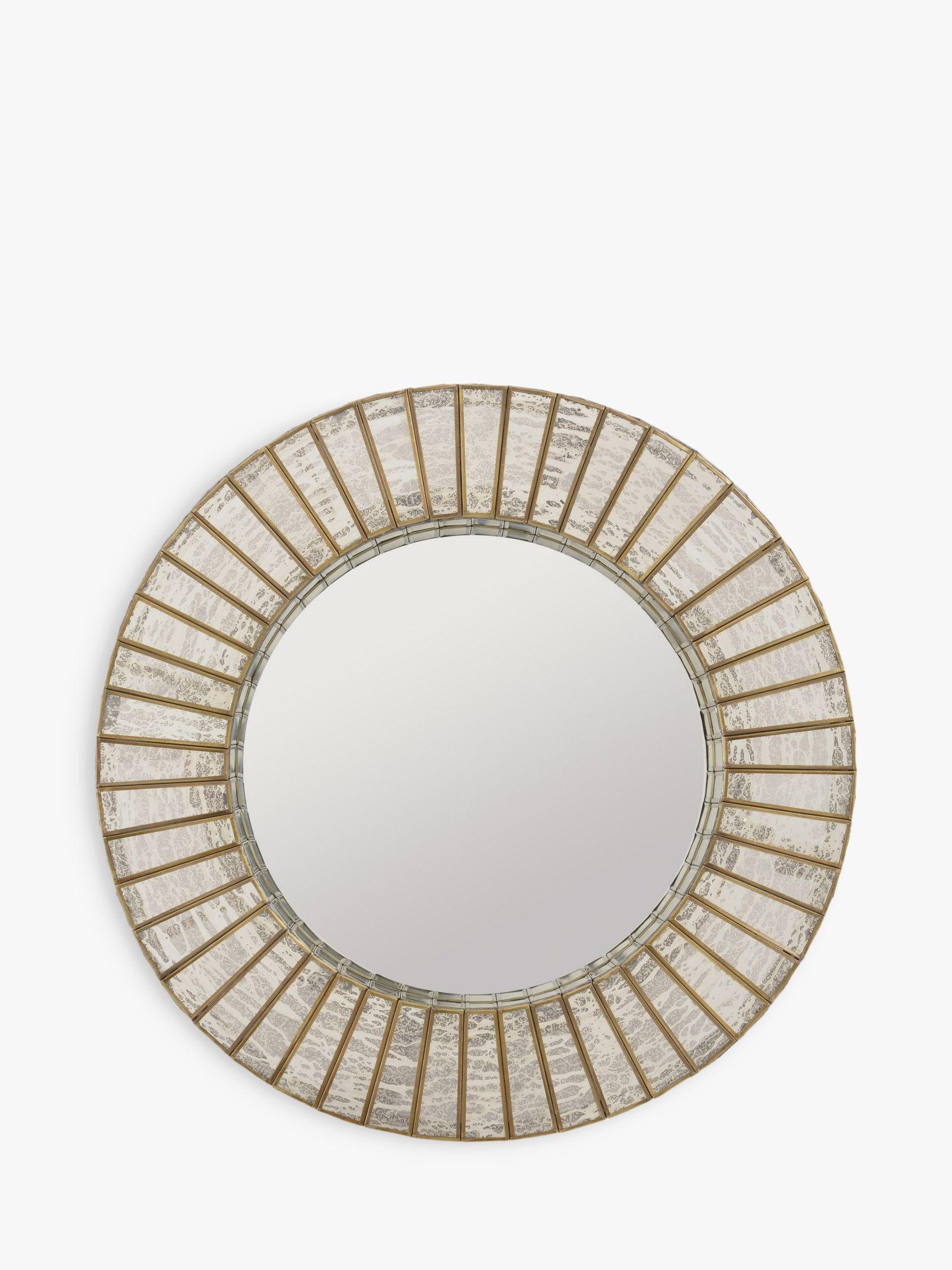 Libra Libra Aurora Round Mirror, Antique Silver/Gold, Dia.60cm