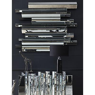 Libra Crystalline Effect Mirror, Silver, 150 x 120cm