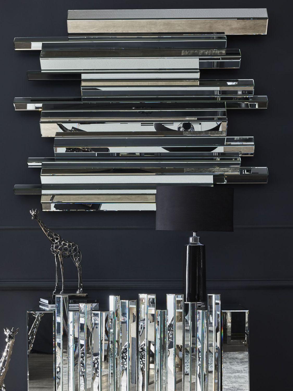 Libra Libra Crystalline Effect Mirror, Silver, 150 x 120cm