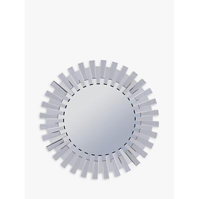 Libra Sunflower Round Mirror, Silver, Dia.100cm