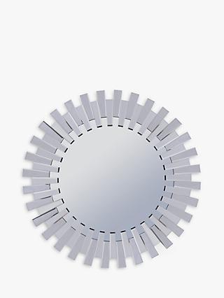 af8105d4f4b5 Libra Sunflower Round Mirror, Silver, Dia.100cm