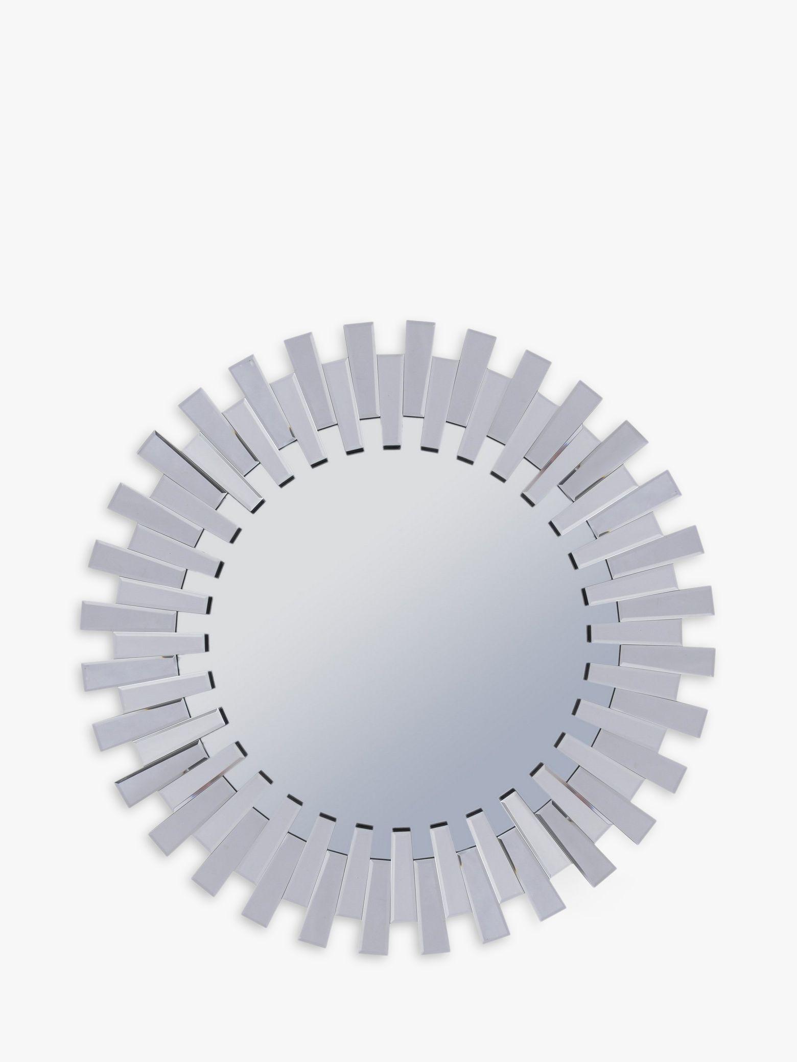 Libra Libra Sunflower Round Mirror, Silver, Dia.100cm
