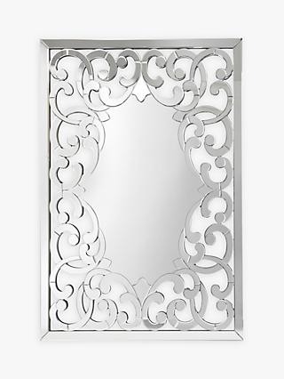 d8937709bbd4 Libra Venezia Rectangular Mirror, Metallic, H140 x W100cm
