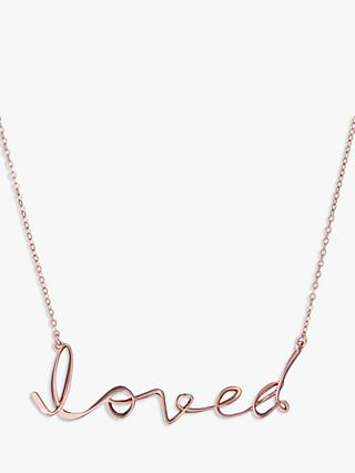 Ted Baker Larna Loved Statement Pendant Necklace, Rose Gold