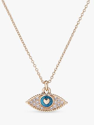 Ted Baker Swarovski Crystal Hediya Eye Pendant Necklace, Pale Gold