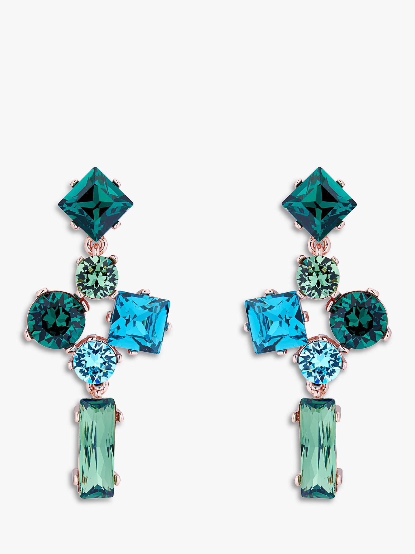 8ffa316deec141 Ted Baker Satara Swarovski Crystal Drop Earrings at John Lewis ...