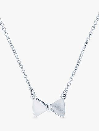 Ted Baker Tenga Swarovski Crystal Bow Pendant Necklace