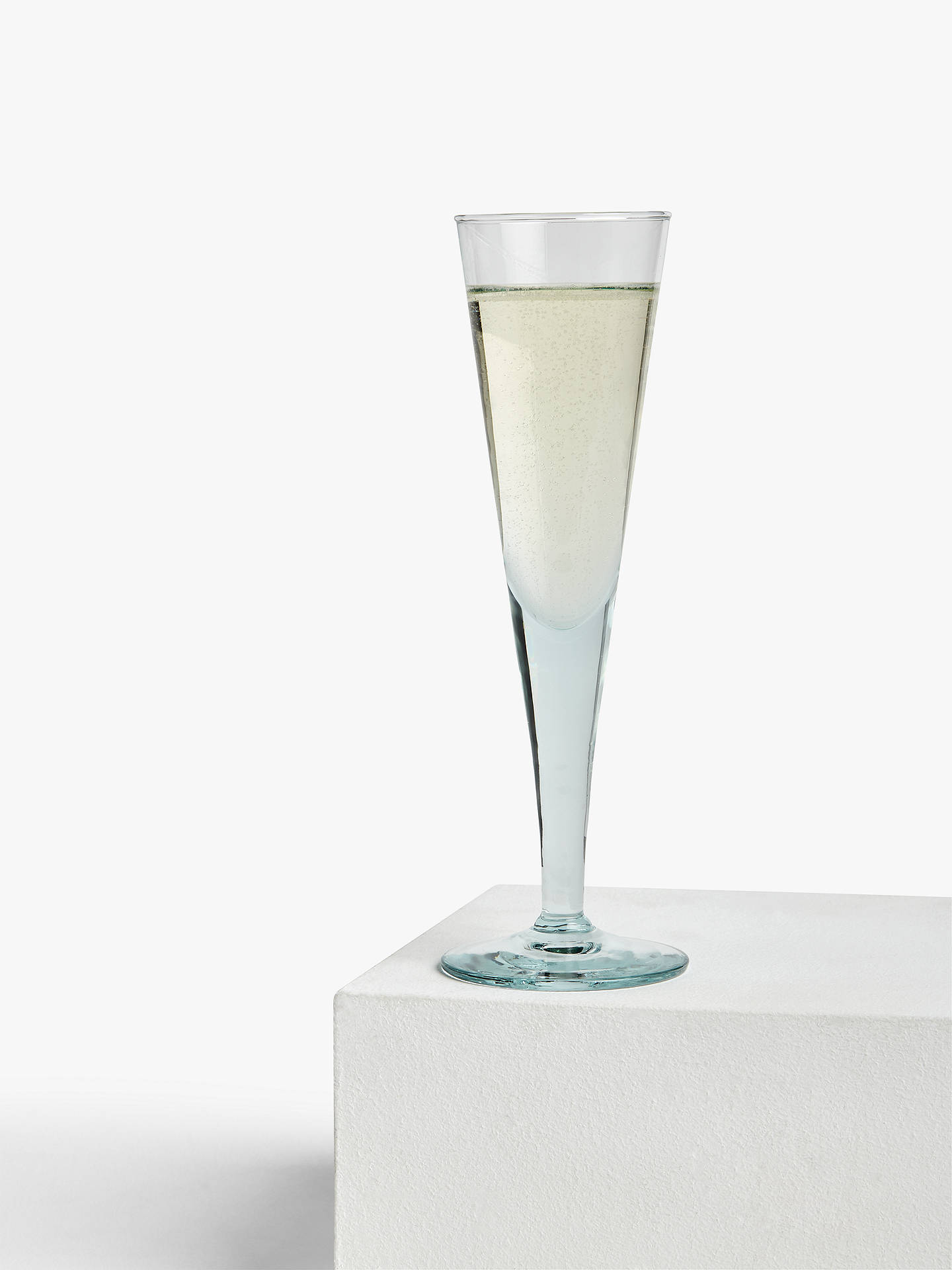 Buy Croft Collection Recycled Glass Champagne Flute, 140ml, Clear Online at johnlewis.com
