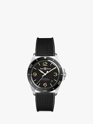 Bell & Ross BRV292-HER-ST/SRB Men's Heritage Automatic Date Rubber Strap Watch, Black