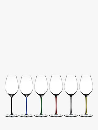 Riedel Fatto A Mano Crystal Champagne Wine Glass, Set of 6, 445ml, Assorted