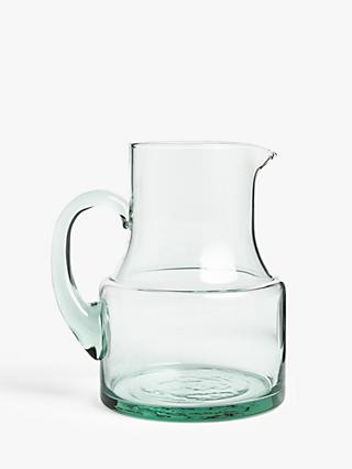 Croft Collection Recycled Glass Jug, 1.5L, Clear