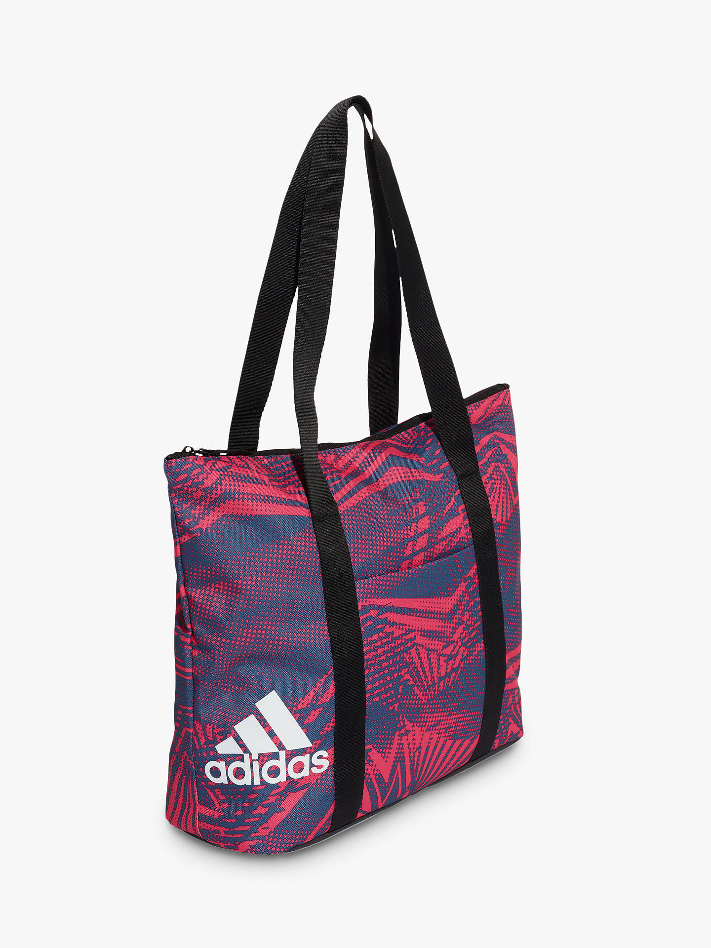 4d4cd5b61ac8 adidas Training Essentials Graphic Tote Bag, Real Magenta/Black/White