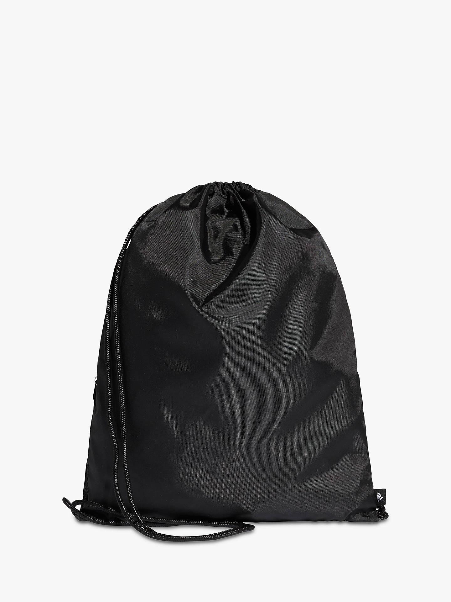 Adidas Performance Logo Drawstring Bag Black White
